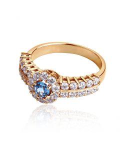 Перстень женский с топазом «Сон Снежной Королевы»