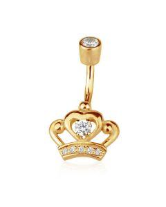 Пирсинг в виде короны с бриллиантом  «Cesaria»