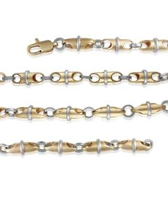 Золотая цепь мужская «Comme Baraka» ручной работы
