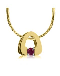 Золотий кулон з рубіном «Eurostyle»