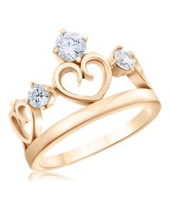 Кільце у формі корони з серцем «Royal Heart»