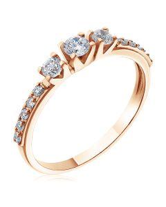 Кольцо женское с фианитами «Сонет»
