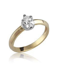 Золотое кольцо для помолвки с цирконием Сваровски «Софи»