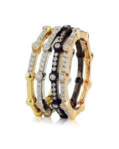 Золоте кільце з чотирьох кольорів золота «Quatre»