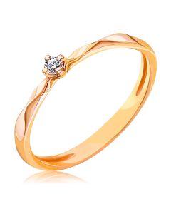 Каблучка з діамантом 0,04 Ct для пропозиції «Габріелла»