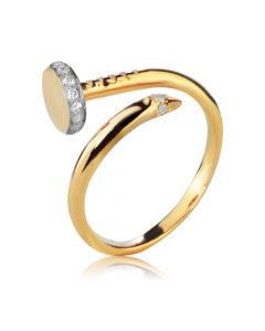 Золотое кольцо в форме гвоздя «A la cartier»