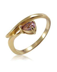 Золотое кольцо с аметистом «Зачарованное желание»