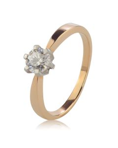 Помолвочное кольцо c одним бриллиантом 0,5Ct «Рейчел»