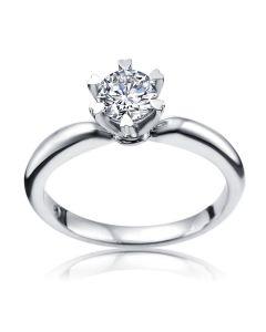 Кольцо для помолвки с большим бриллиантом