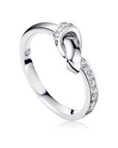 Заручальне Золотое кольцо с блиллиантом внутри