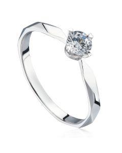 Золотое кольцо с солитером 0,2 Ct «Ингрид»