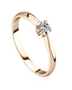 Золотое кольцо солитер для предложения «Лалла»