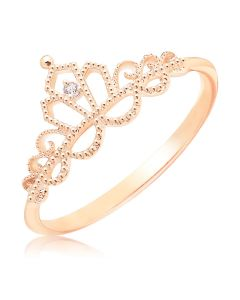 Кільце корона з фианитом «Золота діадема»