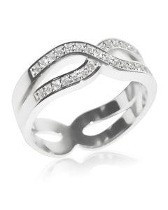 Золота обручка c діамантами «Endless»