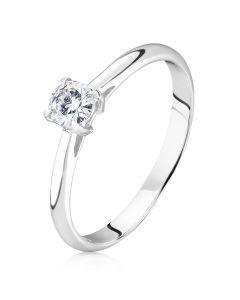 Помолвочное кольцо с бриллиантом 0.2 карата «Classic»