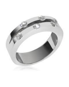 Золота весільна обручка з діамантами «Feride»