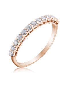 Золотое кольцо дорожка c бриллиантами «Beautify»