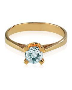 Кольцо для помолвки с большим аквамарином «Элис»