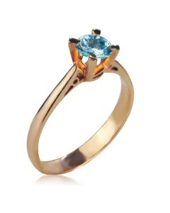 Золота каблучка для заручин з топазом «Еліс»