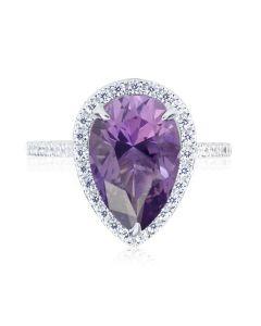 Эксклюзивное кольцо с каплевидным аметистом «Доротея»