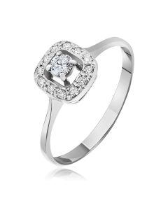 Золота каблучка з діамантами «Королівська розкіш»