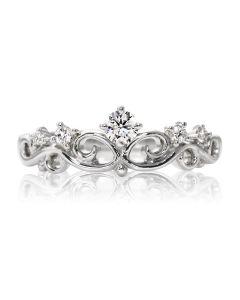Золоте кільце з діамантами «Корона»
