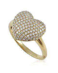 Кольцо сердце помолвочное
