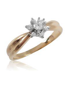 Золотое кольцо с бриллиантами «Франсуаза»