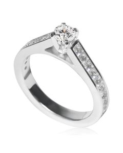 Золотое помолвочное кольцо с бриллиантами «Kapella»
