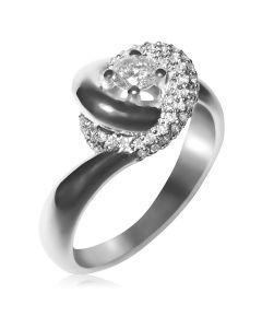 Золотое кольцо на помолвку с бриллиантами «Vogue»