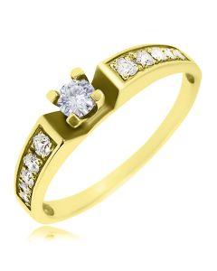 """Золота каблучка з діамантами """"Lovesong»"""