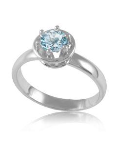 Золотое помолвочное кольцо с аквамарином «Новий свет»