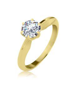 Кольцо золотое для помолвки с Сваровски «Элегия»