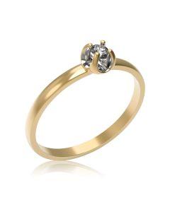 Каблучка з одним центральним діамантом «Mesdames»