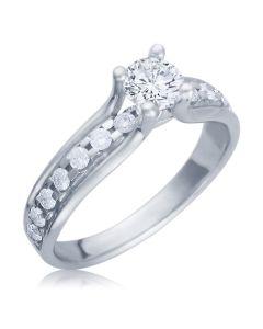 Кольцо с бриллиантами дорогое