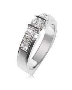 Золоте кільце для заручин з діамантами «Samanta»
