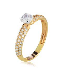 Каблучка для заручин з камінням Сваровскі «Raffaella»