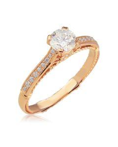 Золота заручальна каблучка з великим каменем «Закохана»