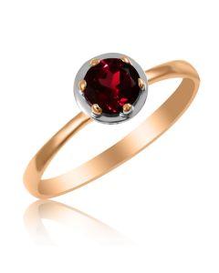 Золотое кольцо с гранатом «Gold Brand»