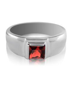 Золотое мужское кольцо с гранатом «Хранитель»
