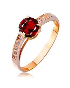 Золотое женское кольцо с гранатом «Вечная любовь»