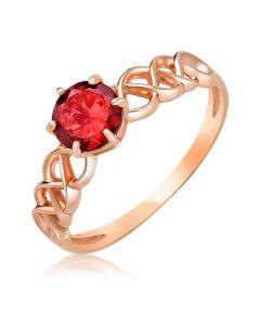 Золотое ажурное кольцо с гранатом «Есения»