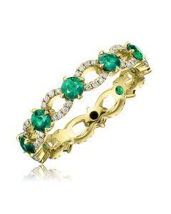 Золотое кольцо с изумрудами «Emerald Elite Gold»