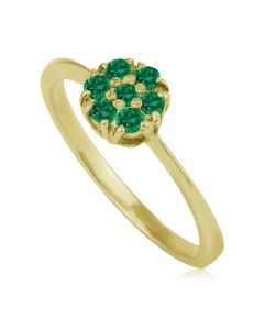 Золота каблучка з смарагдами «Mystic Flower»