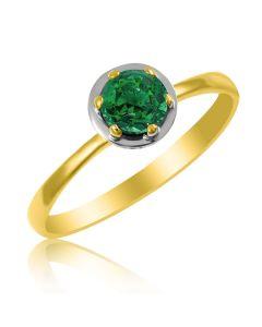 Золотое кольцо с изумрудом «Gold Brand»