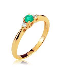 Кольцо золотое на помолвку с изумрудом «Марина»