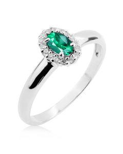 Золотое кольцо с изумрудом и бриллиантами «Candy»