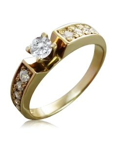 Кільце на заручини з кристалами Сваровськи «Lovesong»