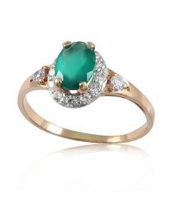 Золотое кольцо с ониксом «Evergreen»