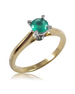 Женское кольцо с зеленым ониксом «Naturel»